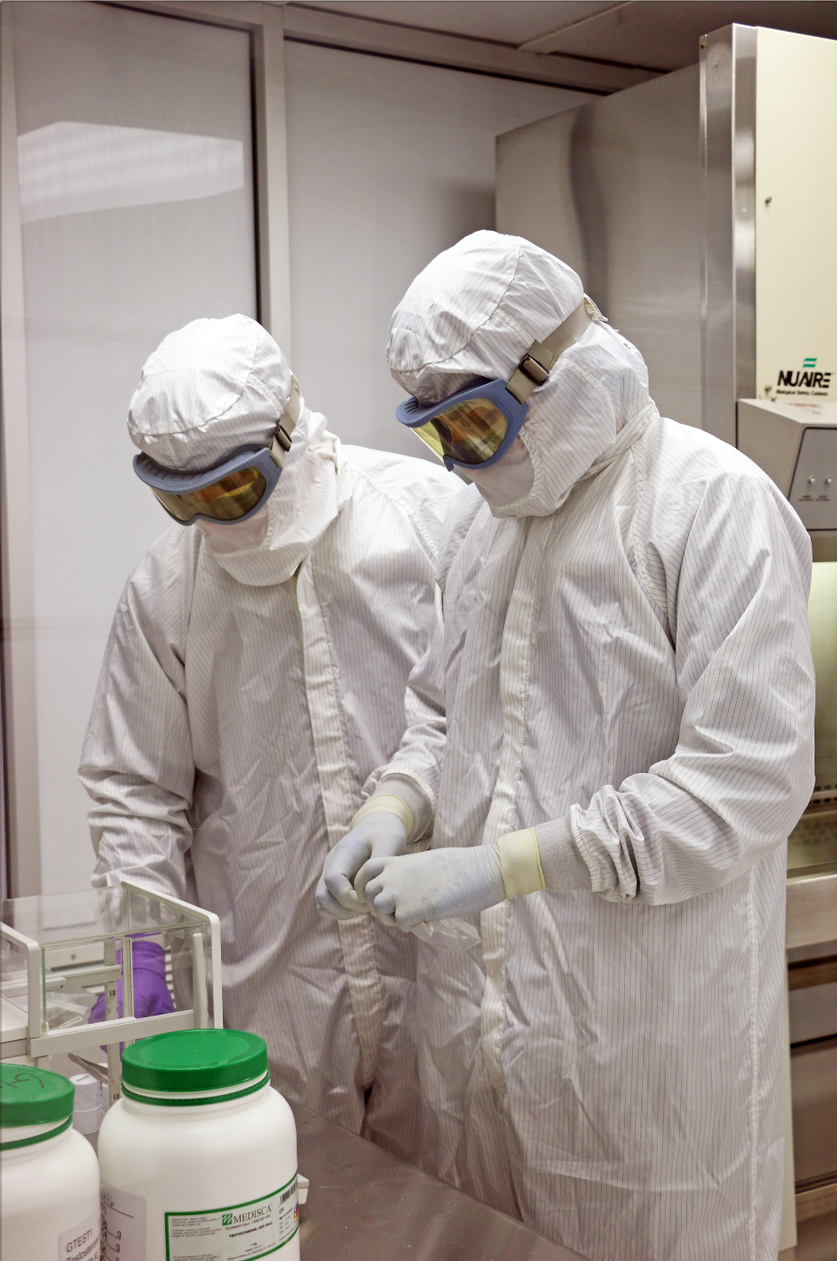 Qualgen's Technicians in Sterile Lab