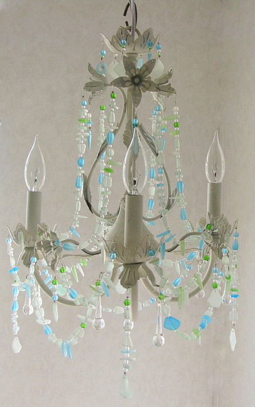 chic lighting fixtures. Sea Glass Lighting Fixture Chandelier Beach Cottage Shabby Chic Coastal Decor Fixtures I