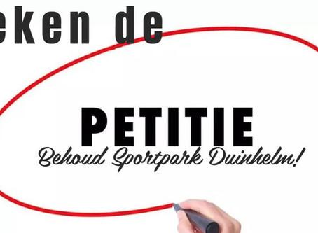 Teken de petitie: Behoud Sportpark Duinhelm!
