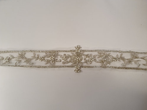 Pearl & Diamante Belt With Organza Backing