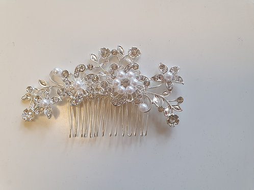 Rhinestone & Pearl Hair Comb