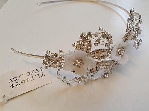 Silver & Diamante Side Headband