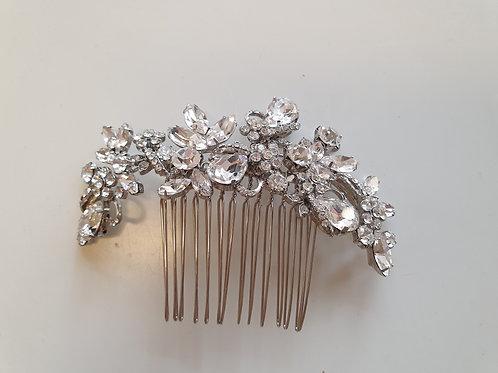 Silver Rhinestone Hair Comb