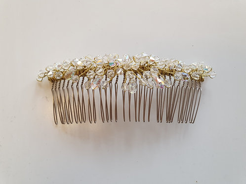 Large Crystal Hair Comb