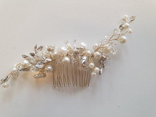Pearl & Rhinestone Hair Comb