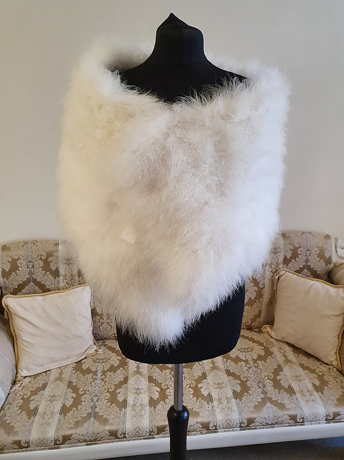 Ivory Feather Stole