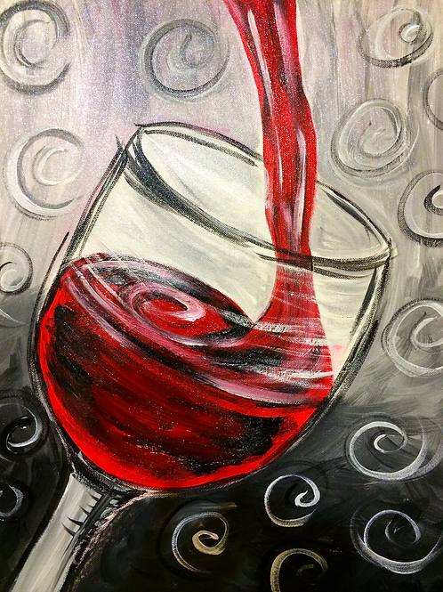 Wine Glass-red and grey