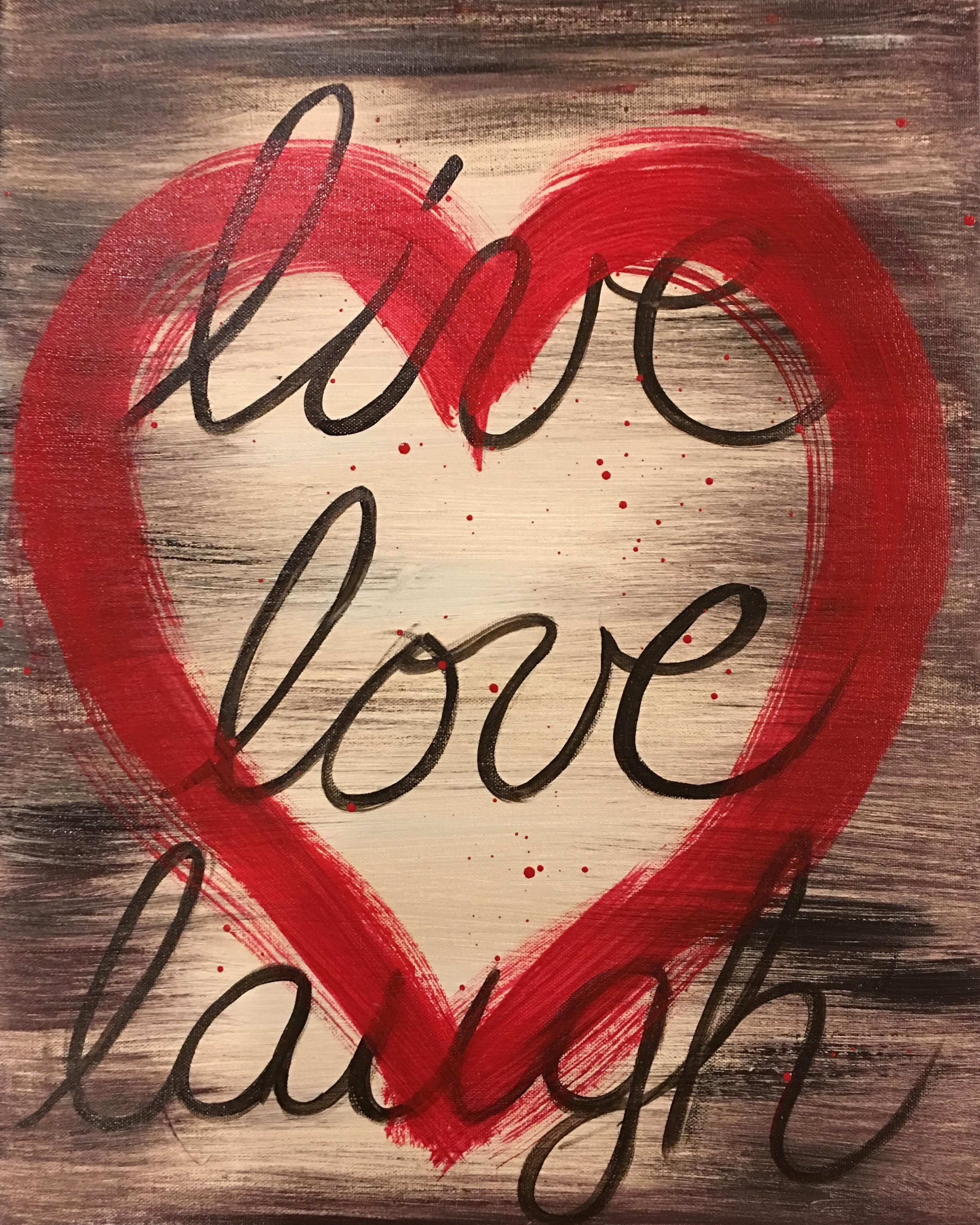valentine live love laugh heart