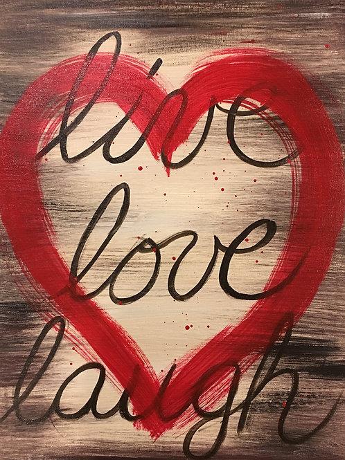 Heart-Live Love Laugh