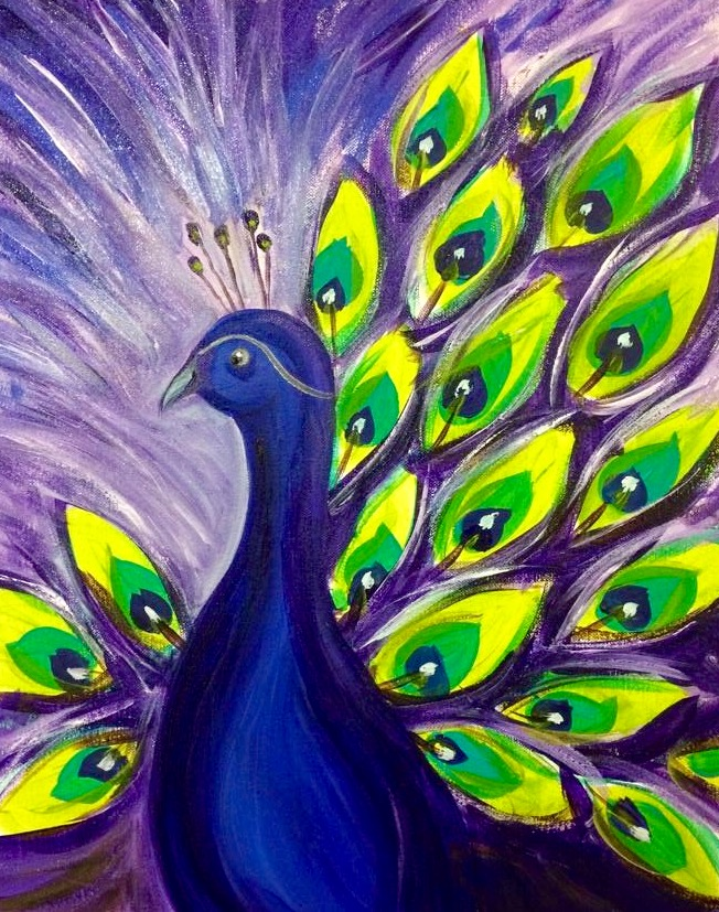 peacock purple