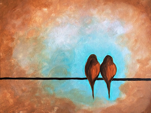 Birds on a Wire-Brown