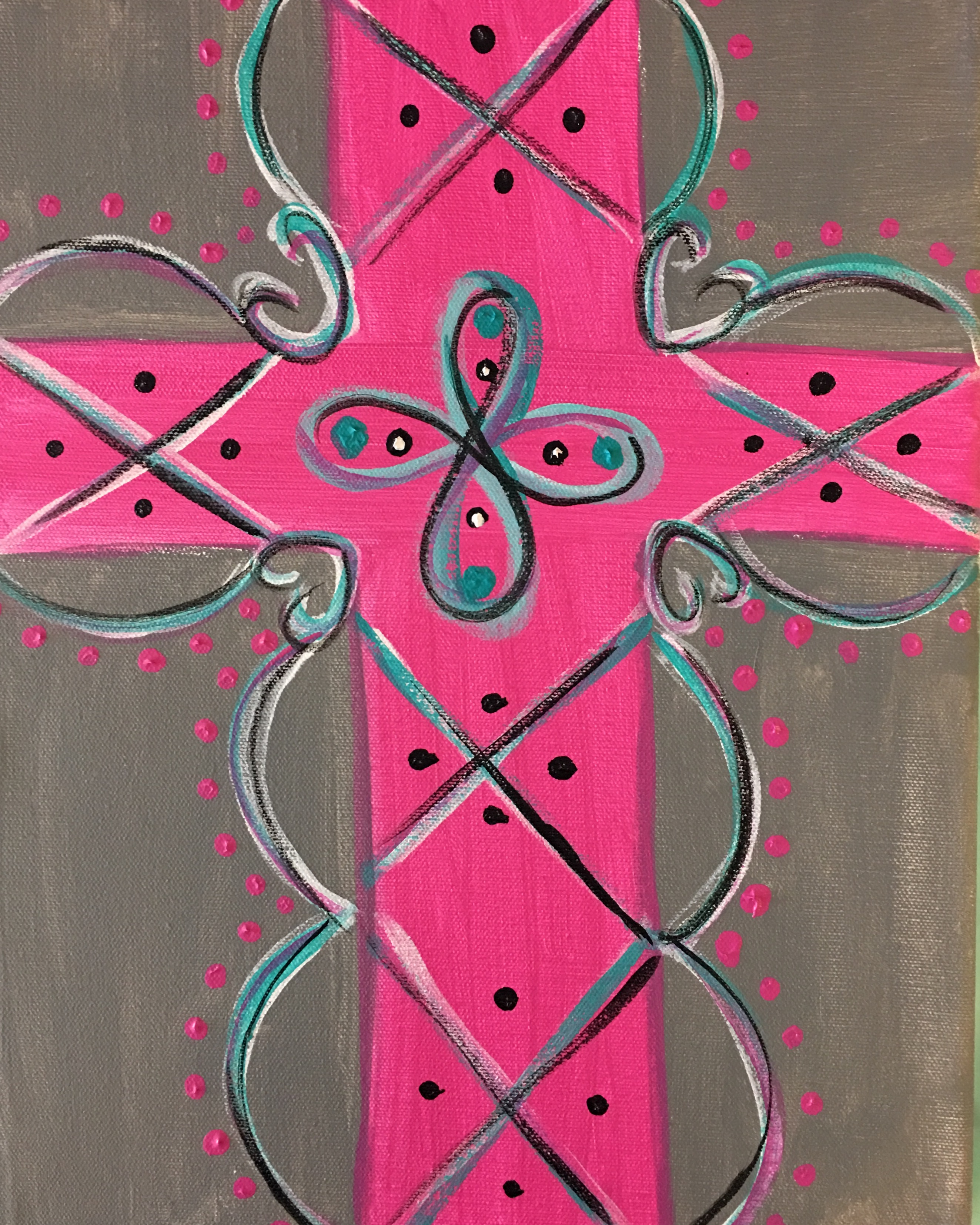 cross-pink and grey