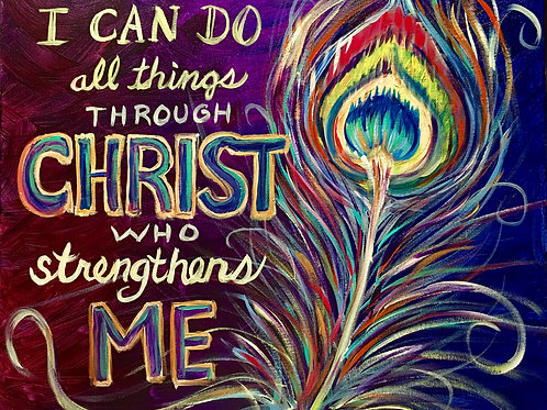 All Things Through Christ - Feather