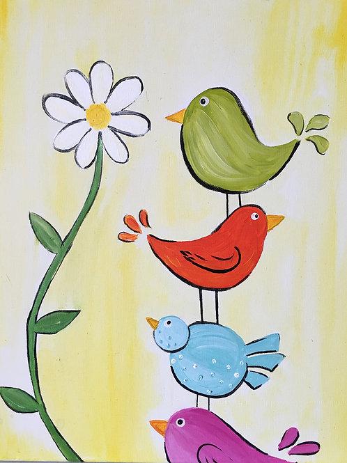 Birdies and a Daisy