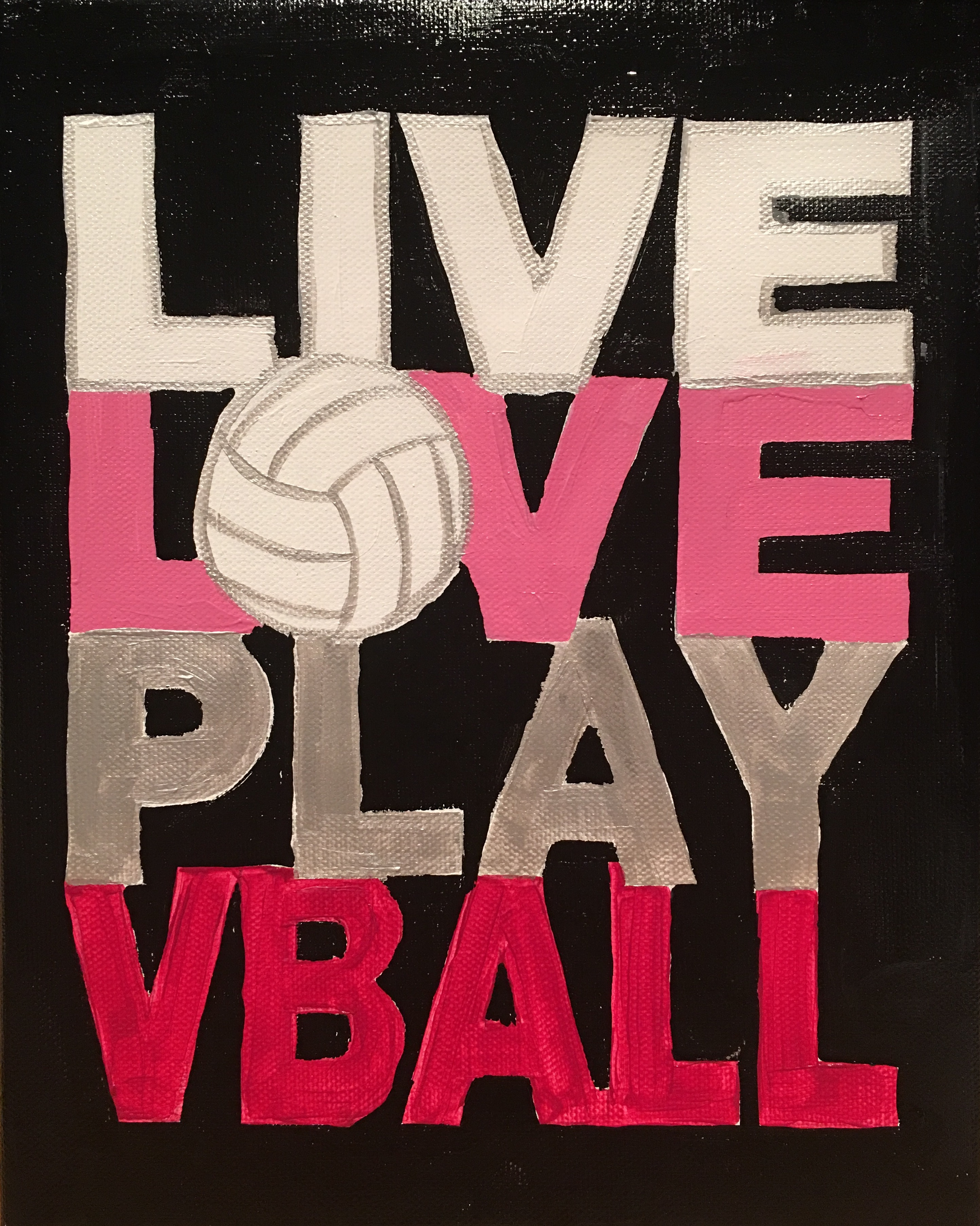 live love play volleyball