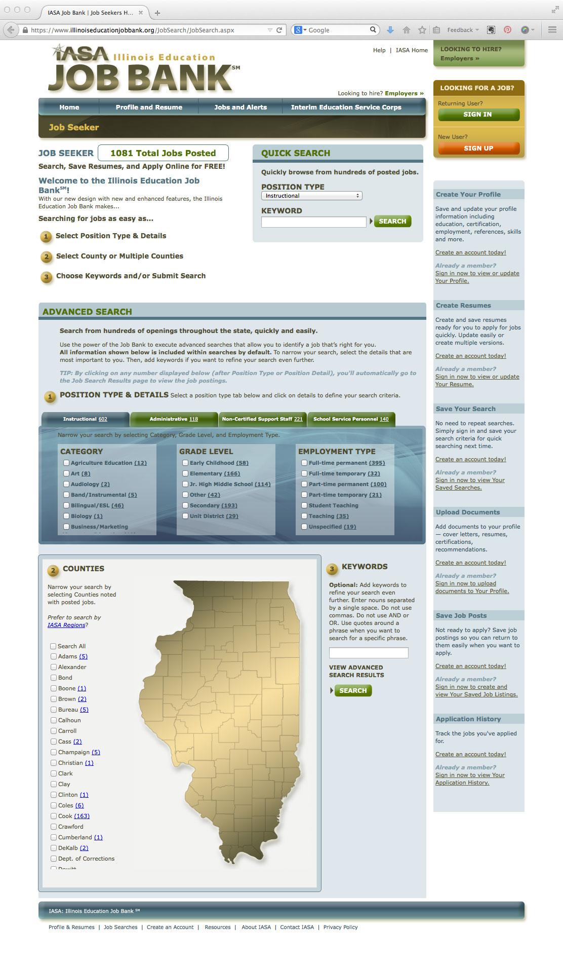 Illinois Education Job Bank