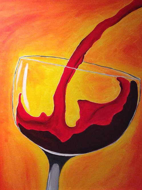 Wine Glass-red and orange