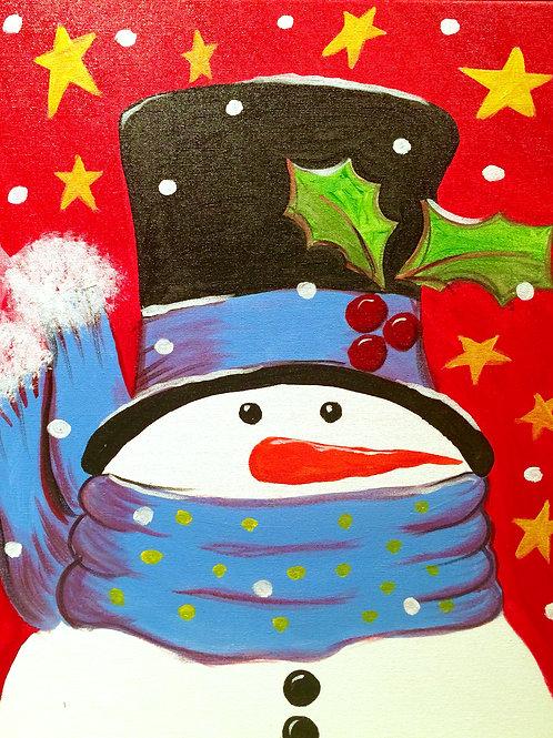 Cozy Snowman-Blue
