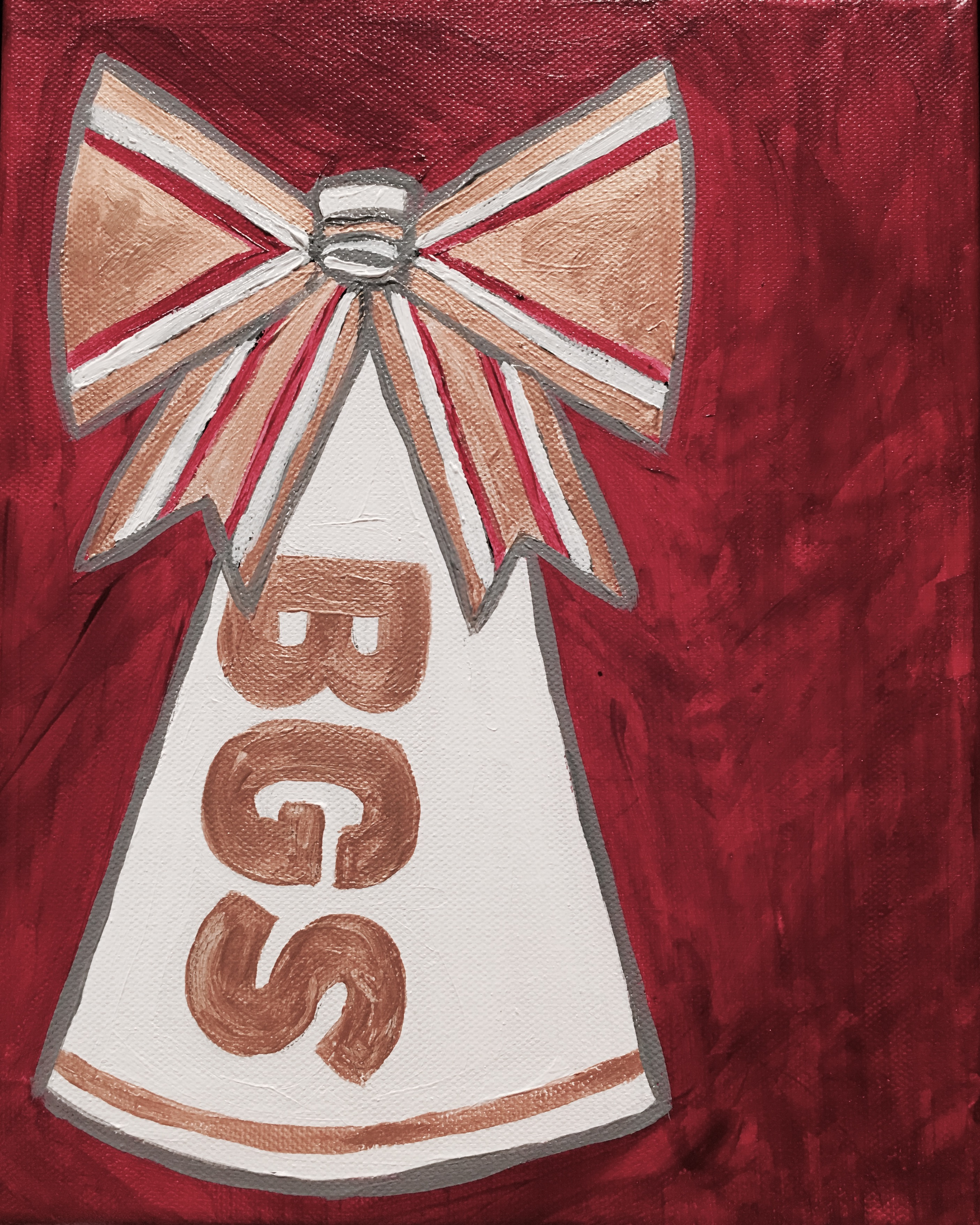 cheer megaphone and bow