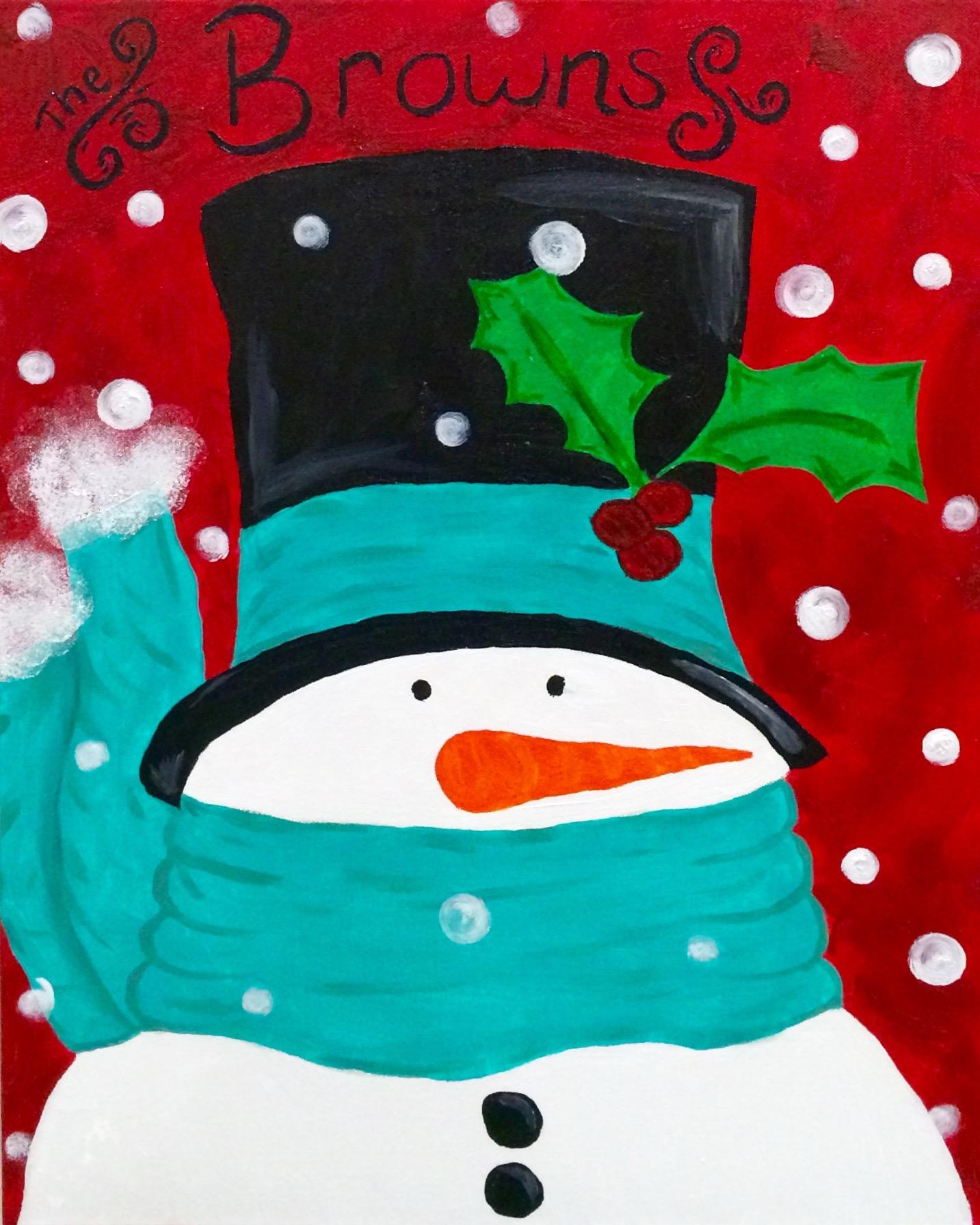 winter cozy snowman turquoise