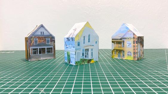 DIY Memory House Sculptures