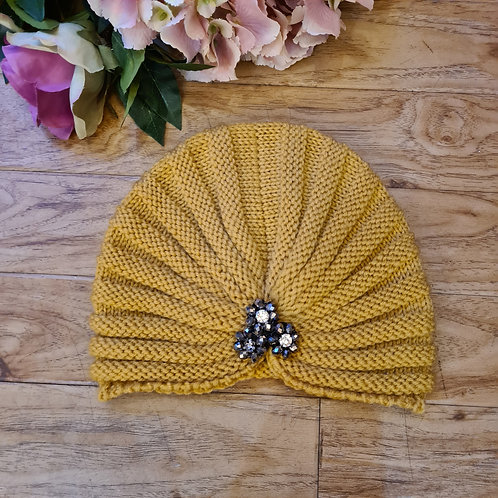 Yellow turban hat
