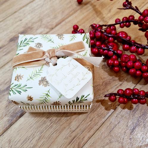 Castelbel Festive collection  Blond Woods & Amber Set of 2 soaps