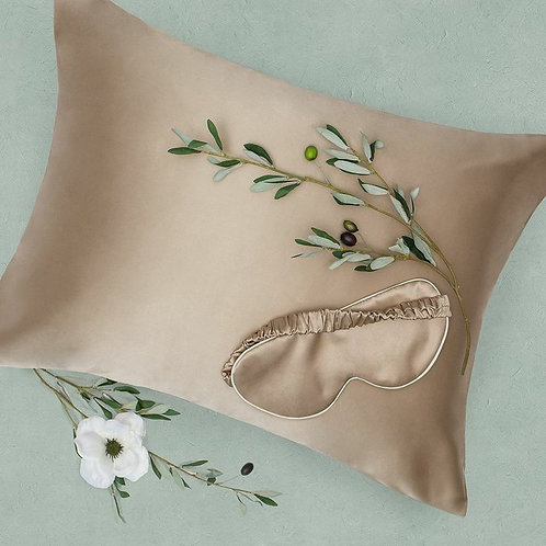 100%  Silk pillowcase  with eye sleep mask
