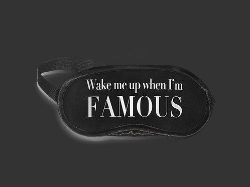 Silky satin eye mask Wake up Famous
