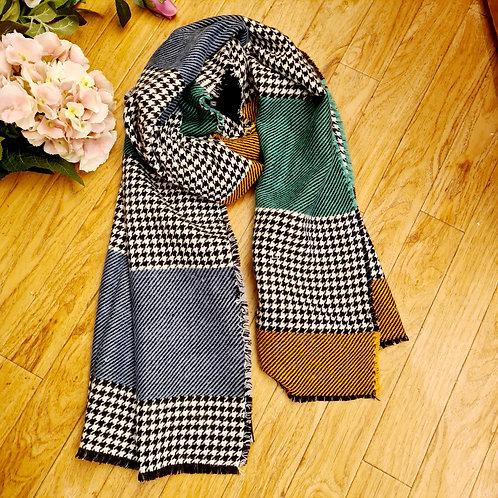 Multi colour wool scarf