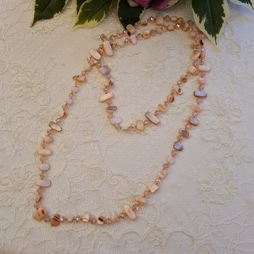 Pink long Beading Necklace
