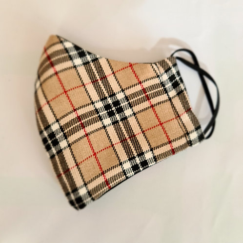 Burberry Style Cotton Face Mask