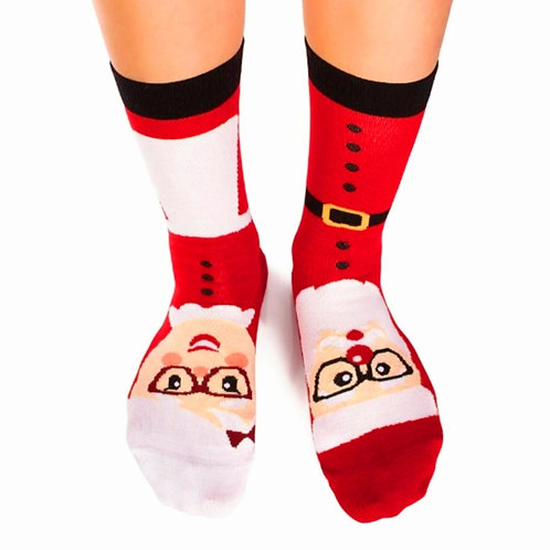 Father and Mother Christmas Combed cotton socks