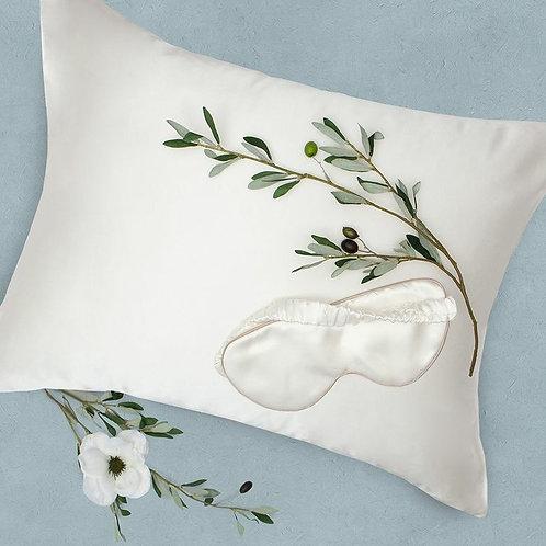 Ivory  1x 100%  Silk pillowcase