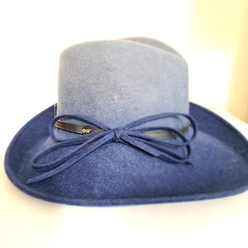 Italian Blue Ombre 100% Wool Hat