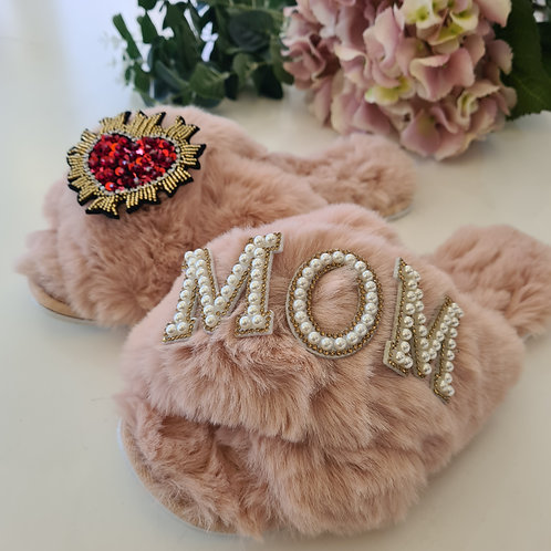 Fluffy Faux fur slippers  MOM