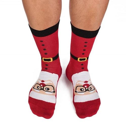 Santa Combed cotton socks