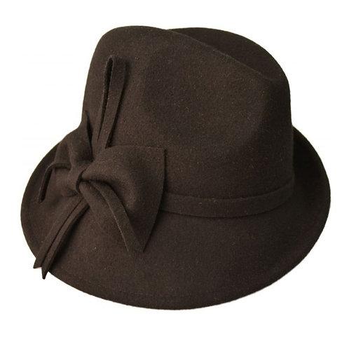 100%Wool Felt Black Hat