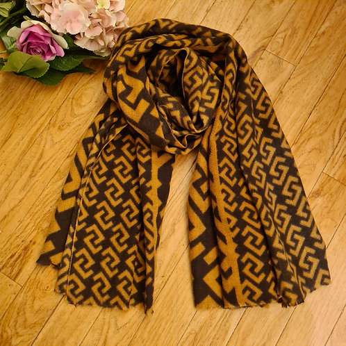 Inspired brown scarf
