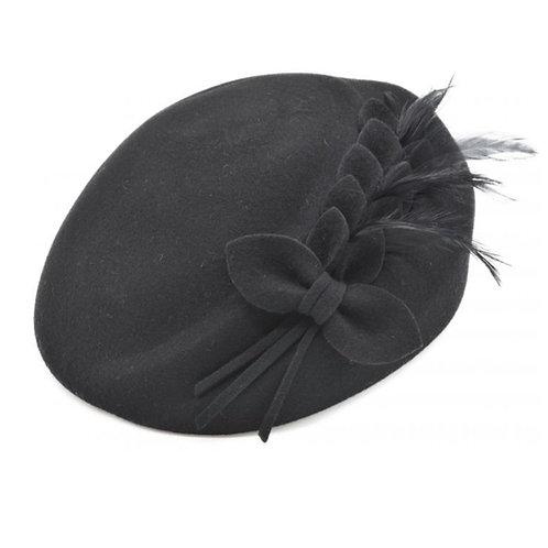 100%wool felt vintage cloche hat