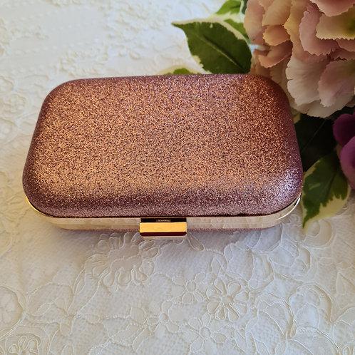 Clutch bag glitter pink
