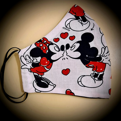 Mickey & Minnie Cotton Face Mask