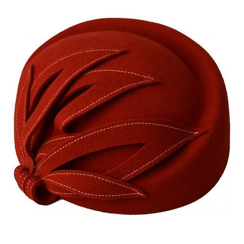 Wool felt vintage cloche hat