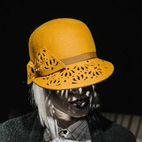 Italian yellow mustard 100% Wool Hat
