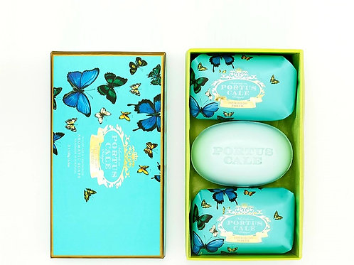 Portus cale Butterflies set of 3 soaps Sugarcane & Lemongrass