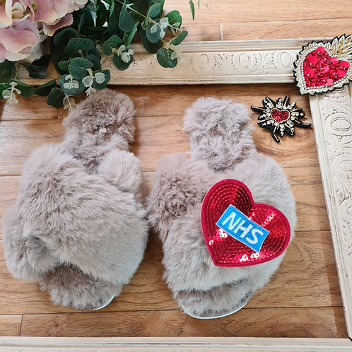 NHS Faux fur Slippers