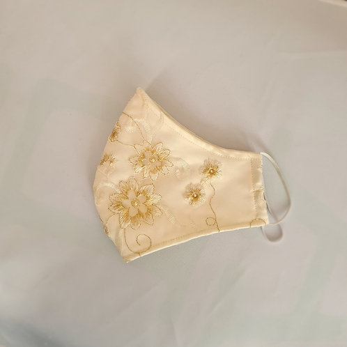 Bridal Cream Lace Emroidery Mask