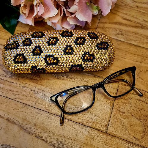 Diamonte glitter glasses cases