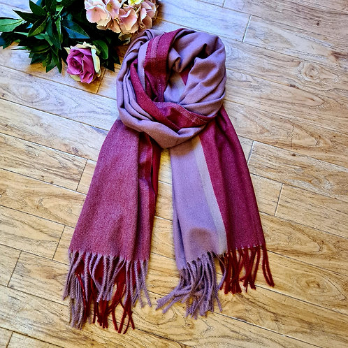 Soft red and pink scarf
