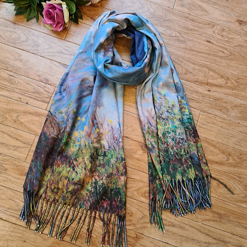 The Woman with the Parasol by Monet cashmere scarf